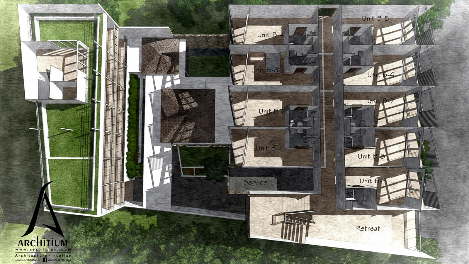 Architecture-Boarding House-Bandung-L1